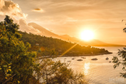 Sunset in Amed, Mont Agung, Bali