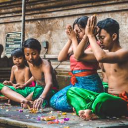 People praying, Tirta Empul Tampak Siring - Bali Holy Spring Water Temple